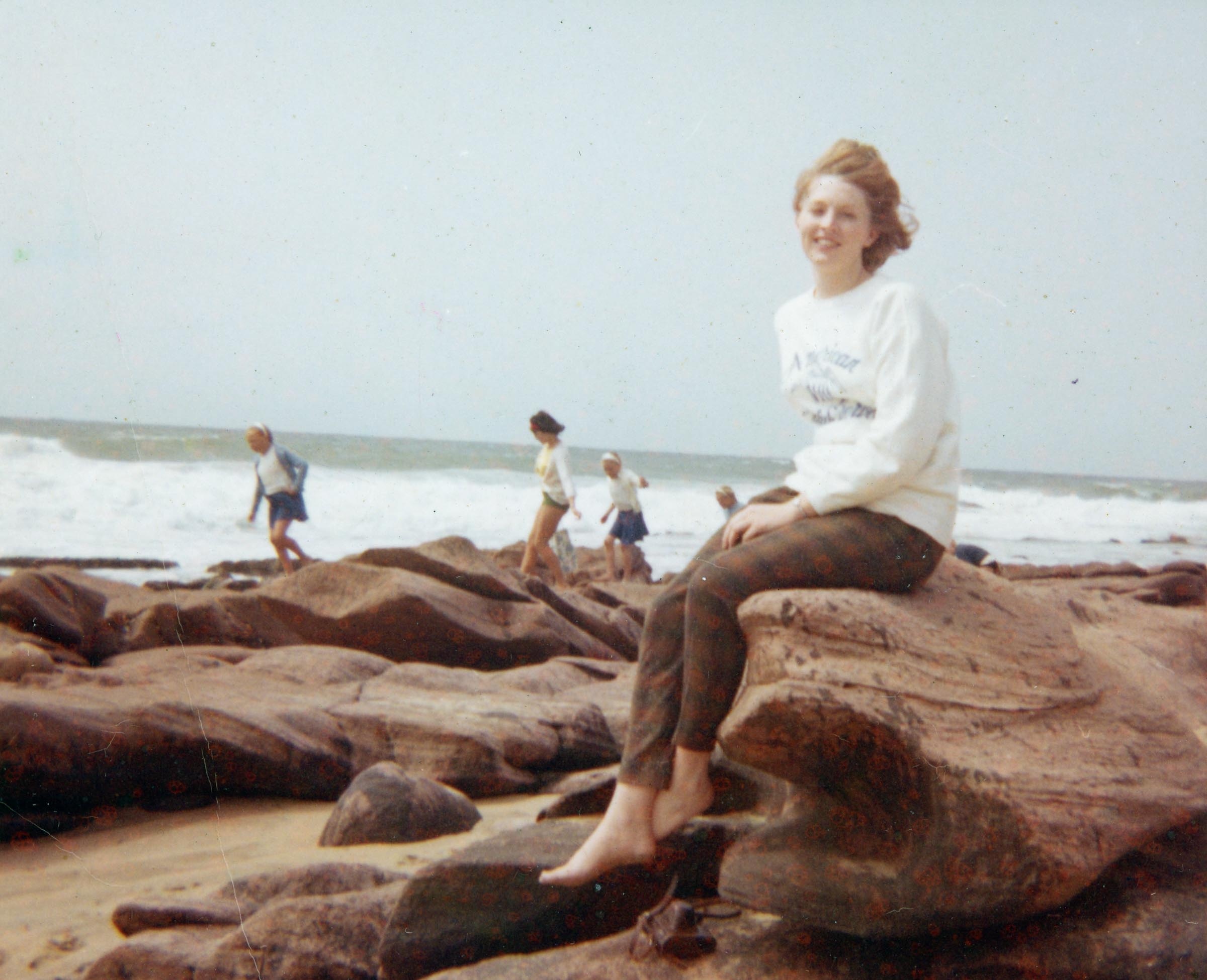 1964 colleen on beach at margate